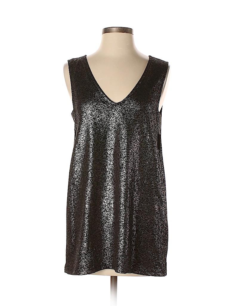 e64b0e3a150 ASOS Metallic Black Sleeveless Top Size 6 - 66% off