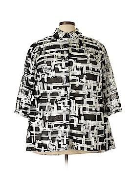 JM Collection 3/4 Sleeve Blouse Size 1X (Plus)