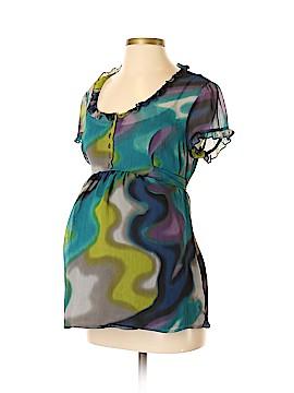 Duo Maternity Short Sleeve Blouse Size M (Maternity)