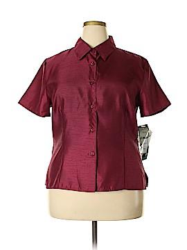 Sag Harbor Short Sleeve Blouse Size 18 (Plus)