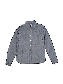 Aqua Long Sleeve Button-Down Shirt Size S (Youth)