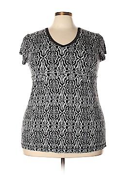 Ellen Tracy Short Sleeve Top Size 1X (Plus)