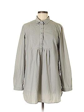 Signature Long Sleeve Button-Down Shirt Size M