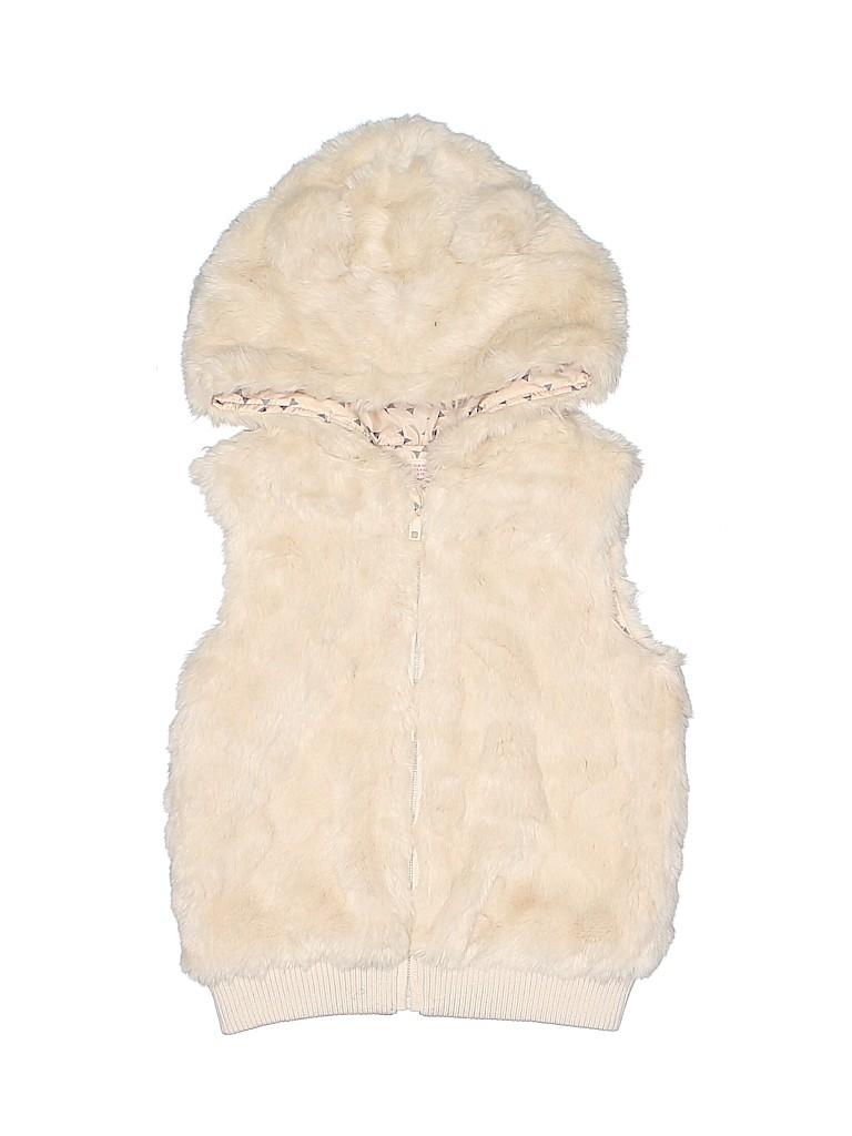 H&M Girls Faux Fur Vest Size 4 - 5