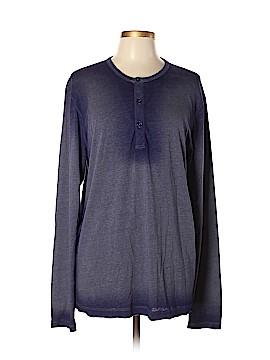 Barneys New York Long Sleeve Henley Size XL