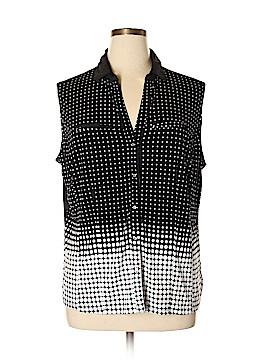 7th Avenue Design Studio New York & Company Sleeveless Button-Down Shirt Size XXL