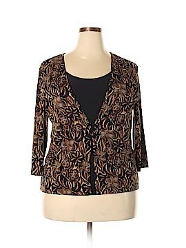 Carol Rose 3/4 Sleeve Top Size 1X (Plus)