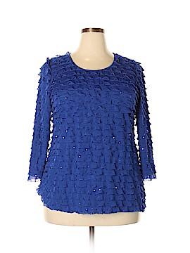 Kim Rogers 3/4 Sleeve Blouse Size 1X (Plus)