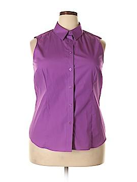 Jones New York Signature Sleeveless Button-Down Shirt Size XL