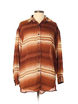 Magic Long Sleeve Button-Down Shirt Size L