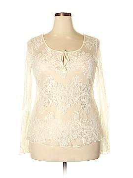 Moda International Long Sleeve Blouse Size XL