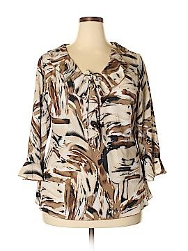 DressBarn 3/4 Sleeve Blouse Size 1X (Plus)