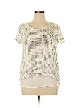 Olivia Moon Short Sleeve Blouse Size L