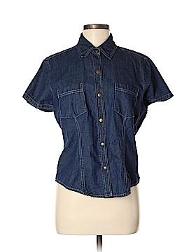 St. John's Bay Short Sleeve Button-Down Shirt Size M