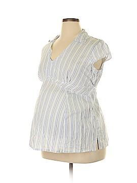 Announcements Maternity Short Sleeve Blouse Size XL (Maternity)