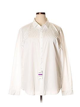 INC International Concepts Long Sleeve Button-Down Shirt Size XXL