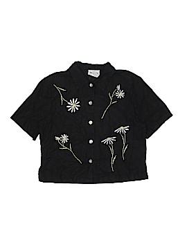 Ultra Dress Short Sleeve Button-Down Shirt Size 10
