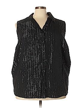Liz & Me Sleeveless Button-Down Shirt Size 5X (Plus)