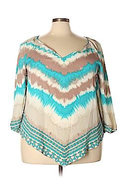 Free 2 luv 3/4 Sleeve T-Shirt Size 2X (Plus)