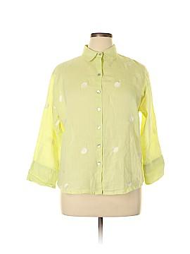 Kim Rogers 3/4 Sleeve Button-Down Shirt Size 16