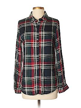 Buttons Long Sleeve Button-Down Shirt Size S