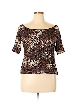Joseph Ribkoff Short Sleeve Button-Down Shirt Size 18 (Plus)