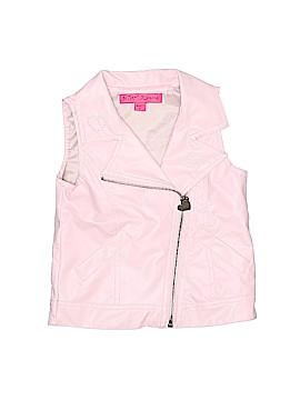 Betsey Johnson Faux Fur Vest Size 3T