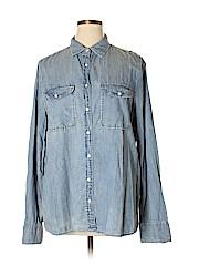 J. Crew Women 3/4 Sleeve Button-Down Shirt Size XS