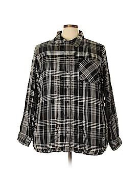 Style&Co Sport Long Sleeve Button-Down Shirt Size 3X (Plus)