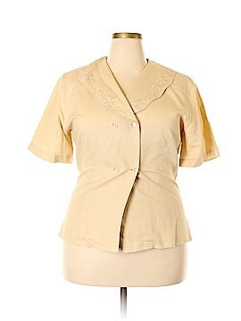 Christie & Jill Short Sleeve Button-Down Shirt Size 16