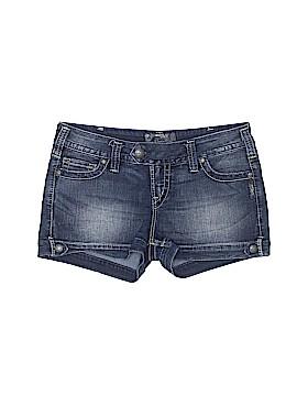 Silver Denim Shorts 30 Waist