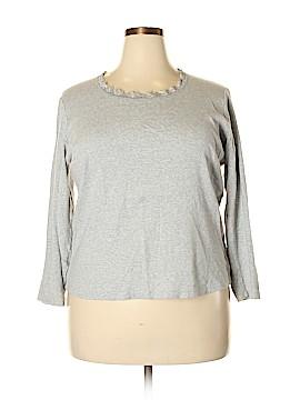 Jones New York Long Sleeve T-Shirt Size 1X (Plus)