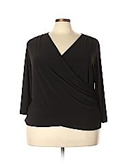 Coldwater Creek Women 3/4 Sleeve Top Size 3X (Plus)