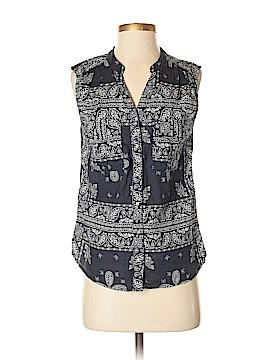 H&M L.O.G.G. Sleeveless Button-Down Shirt Size 4