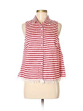 Kensie Sleeveless Button-Down Shirt Size M