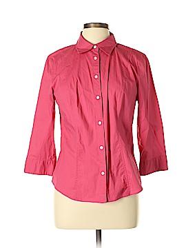 G.H. Bass & Co. 3/4 Sleeve Button-Down Shirt Size L