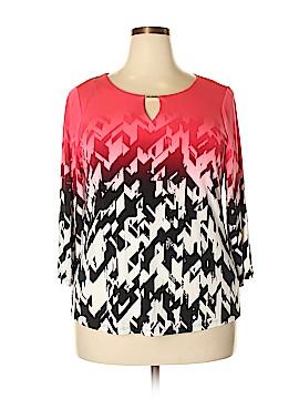 Calvin Klein 3/4 Sleeve Top Size 1X (Plus)