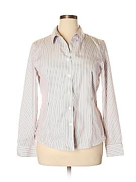 Kasper Long Sleeve Button-Down Shirt Size 14