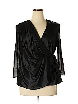 Donna Ricco 3/4 Sleeve Silk Top Size 16