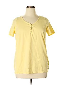 Roaman's Short Sleeve Henley Size 14 (M)