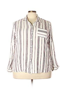 Heart-N-Crush 3/4 Sleeve Button-Down Shirt Size 3X (Plus)