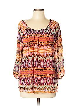 Daisy Fuentes Short Sleeve Blouse Size L
