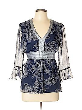 Carole Little 3/4 Sleeve Silk Top Size L