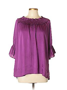 Apostrophe Short Sleeve Blouse Size XL