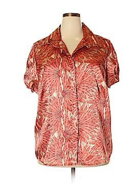 Lane Bryant Short Sleeve Button-Down Shirt Size 22 - 24 Plus (Plus)