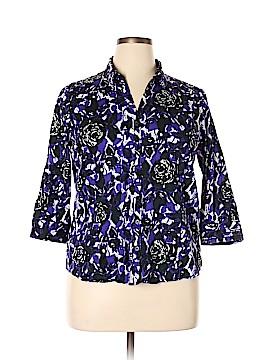 Dana Buchman 3/4 Sleeve Button-Down Shirt Size XL
