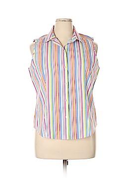 Talbots Sleeveless Button-Down Shirt Size 16