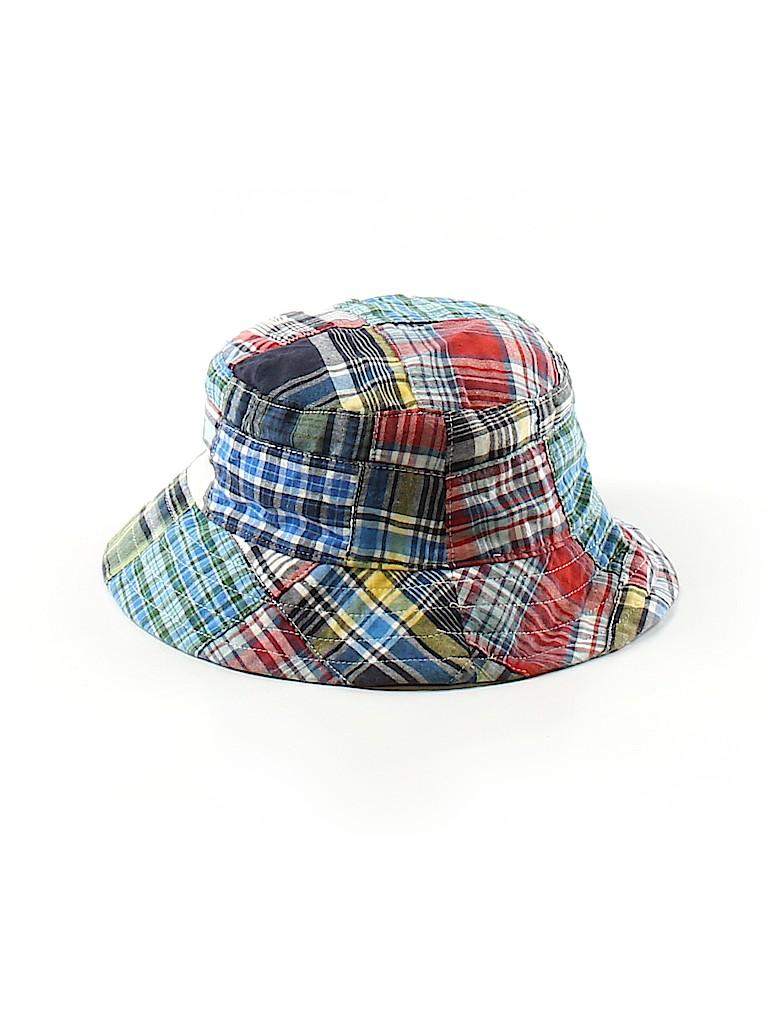 Lands  End 100% Cotton Plaid Dark Blue Bucket Hat Size 12-24 mo - 75 ... 6604affd197