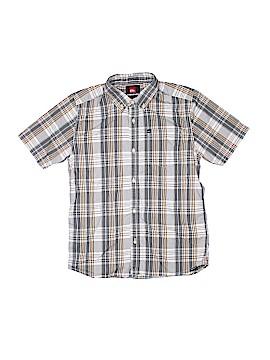 Quiksilver Short Sleeve Button-Down Shirt Size 12