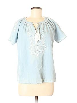Blue Rain Short Sleeve Blouse Size S